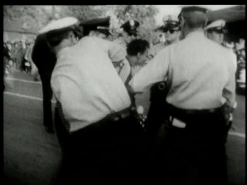police arresting resisting segregation protesters / alabama united states - jim crow laws stock videos & royalty-free footage