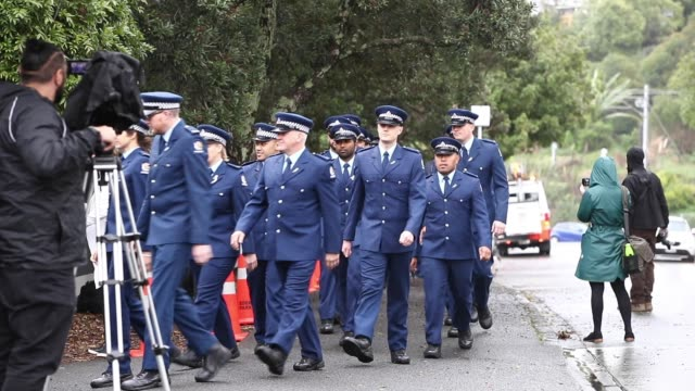 NZL: New Zealand Police Officer  Matthew Hunt Farewelled At Private Funeral