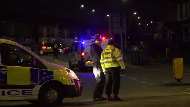 Police at scene of shooting by the police of Sean Fitzgerald in Coventry