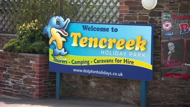 Police at Tencreek Holiday Park in Looe Cornwall after a boy is attacked and killed by a dog