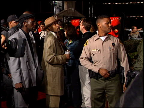 police at the 'bones' premiere at house of blues in west hollywood, california on october 23, 2001. - west hollywood stock videos & royalty-free footage
