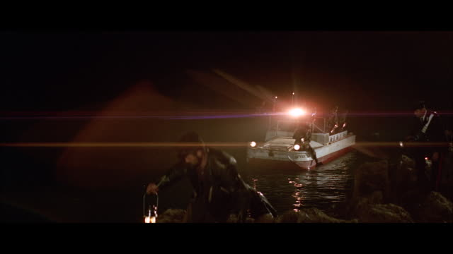 ms pan police boat and searchers on sea wall - coast guard stock videos & royalty-free footage