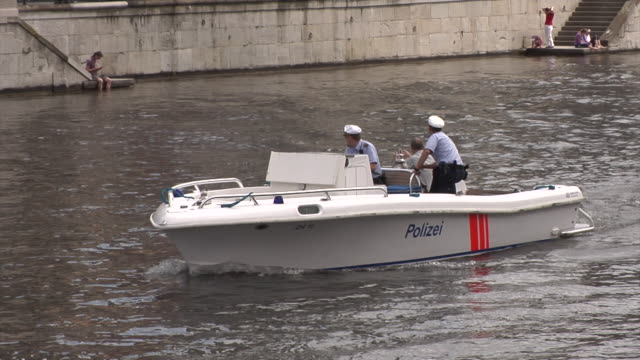 police boat in zürich - police boat stock videos and b-roll footage