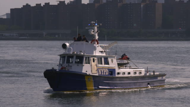 nypd police boat on the fourth of july - police boat stock videos and b-roll footage