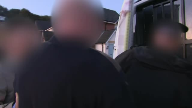 police break up drug ring responsible for smuggling billions of pounds of cocaine heroin and cannabis into uk liverpool and london uk police officers... - india stock videos & royalty-free footage