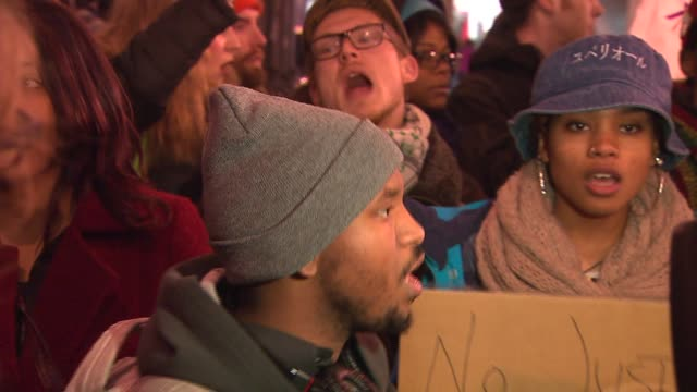 police brutality protestors and activists gather on dec 5 2014 in chicago - police brutality stock videos and b-roll footage