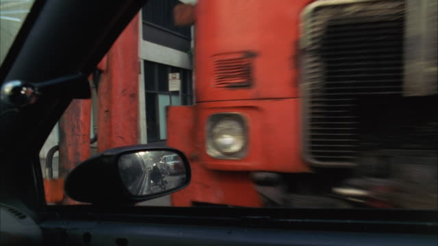 cu pov police car accident / los angeles, california, usa - 2002 stock-videos und b-roll-filmmaterial