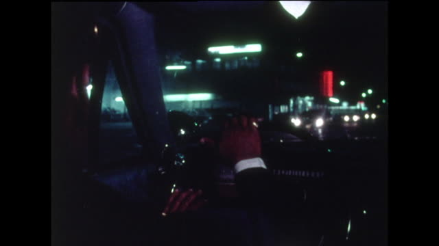 police car being driven through washington streets at night; 1970 - pursuit concept stock videos & royalty-free footage