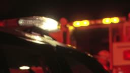 Police Car Flashers - Night 02
