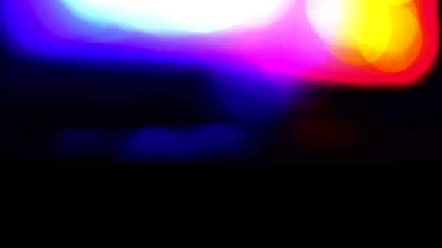 police car lights close-up - crime stock videos & royalty-free footage