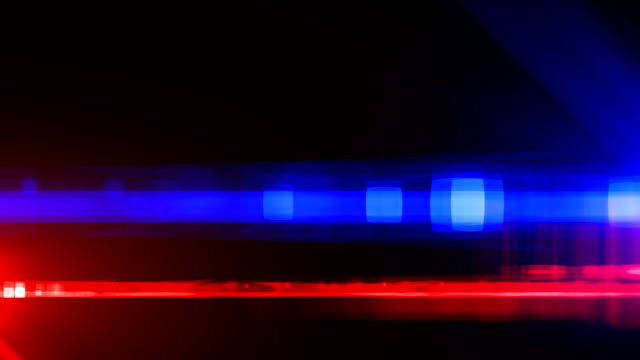 Police car lights close-up