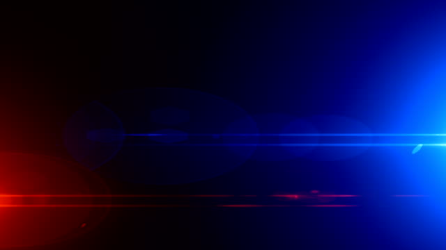 police car lights close-up - light video stock e b–roll