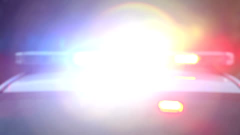 police car siren flashing - accidents and disasters stock videos & royalty-free footage
