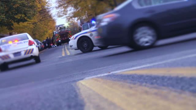 police car - urban blue - police car stock videos & royalty-free footage