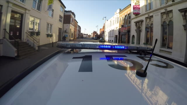 police car - uk video stock e b–roll