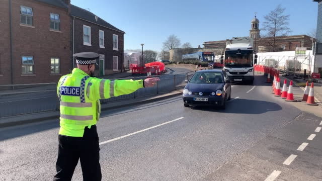 police carrying out spot checks in york to make sure people are observing social distancing laws and are only out for the correct reasons, due to the... - uk stock videos & royalty-free footage