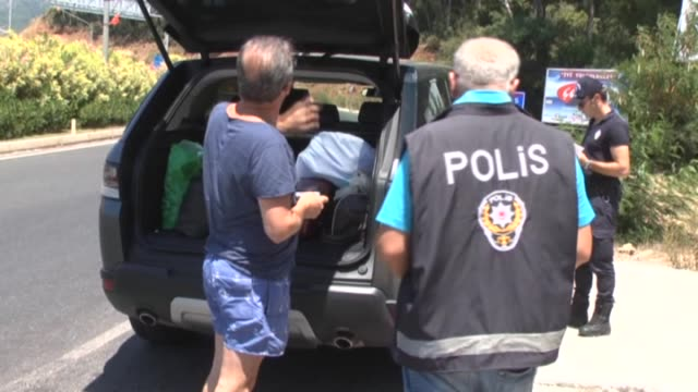 police conduct a road check to capture the wanted plotter soldiers who involved in an assassination attempt against turkish president recep tayyip... - law stock videos & royalty-free footage