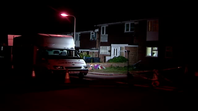 police continue to search house in margate for human remains; irvine drive: ext/night police van outside house which is being searched exterior of... - floodlit stock videos & royalty-free footage