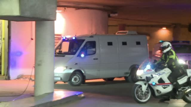 stockvideo's en b-roll-footage met a police convoy believed to be transporting norway gunman anders behring breivik who killed 77 people in twin attacks in july arrived at oslo's... - anders behring breivik