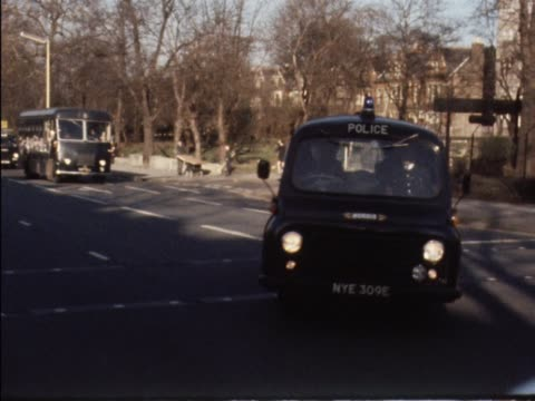 A Police convoy transports Ronnie and Reggie Kray to Brixton prison to await transfer to other jails to face life sentences for the murder of Jack...