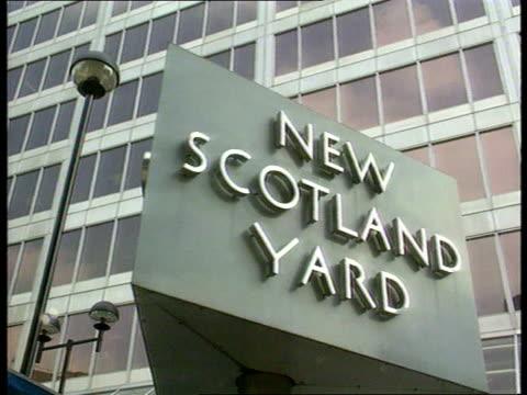Revolving sign at New Scotland Yard