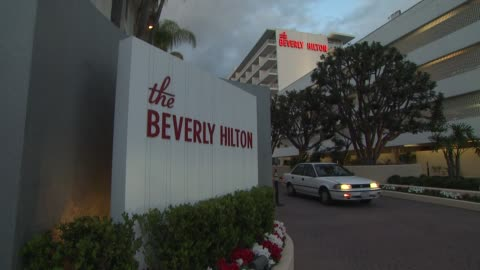 police / crime scene - whitney houston found dead at the beverly hilton hotel before clive davis and the recording academy's 2012 pre-grammy gala and... - whitney houston stock-videos und b-roll-filmmaterial