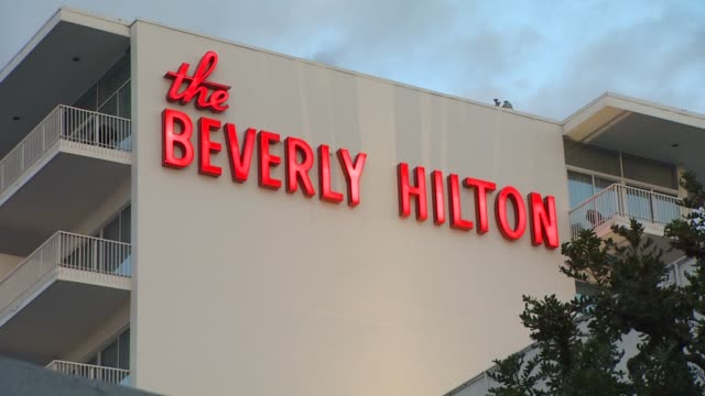 police / crime scene - whitney houston found dead at the beverly hilton hotel before clive davis and the recording academy's 2012 pre-grammy gala and... - the beverly hilton hotel stock videos & royalty-free footage