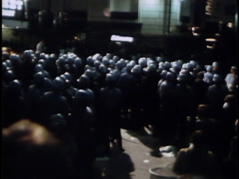police crowd around near demonstrators at the 1968 democratic national convention in chicago. - 1968 stock videos & royalty-free footage