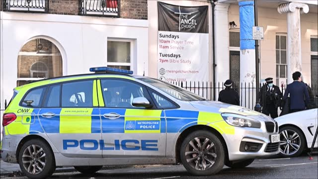 police disperse churchgoers after about 30 worshippers gathered indoors at the angel church in north london for a service including a baptism with... - pastor stock videos & royalty-free footage