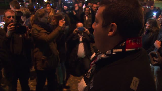 police early saturday freed hostages at paris concert venue bataclan where more than 100 people have died. in the aftermath of the devastating terror... - französische kultur stock-videos und b-roll-filmmaterial
