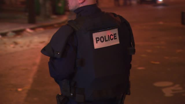 police early saturday freed hostages at paris concert venue bataclan where more than 100 people have died. in the aftermath of the devastating terror... - hostage stock videos & royalty-free footage