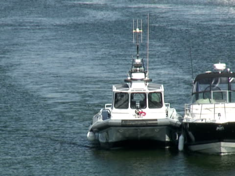 police escort - police boat stock videos and b-roll footage