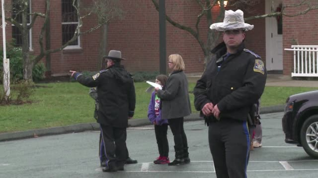 police evacuated a roman catholic church here sunday where mourners had gathered in the wake of fridays mass shooting at an elementary school that... - newtown connecticut stock videos & royalty-free footage