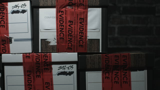 police evidence boxes - plastic bag stock videos & royalty-free footage