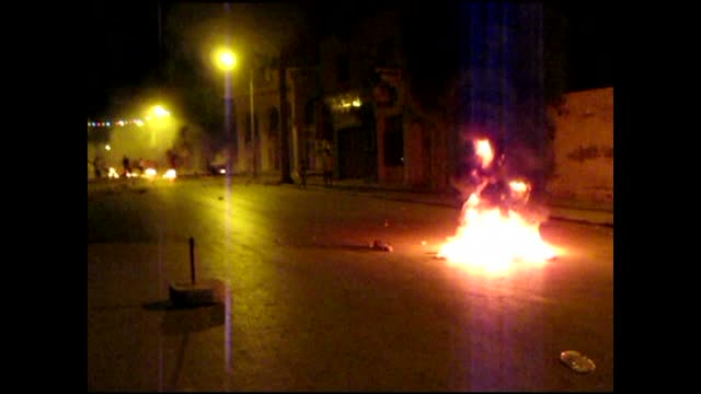 police fired tear gas and rubber bullets late thursday to disperse a second anti-government protest in the central tunisian town of sidi bouzid,... - tunisia stock videos & royalty-free footage