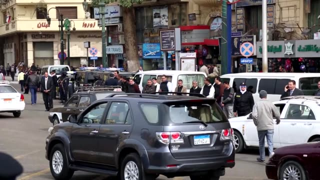 police forces tighten security measures at tahrir square in cairo egypt on january 25 2016 because of the 6th anniversary of the 25 january... - revolution stock videos & royalty-free footage
