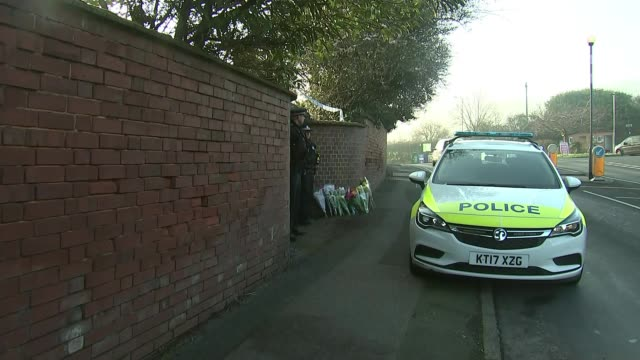 police given more time to question man suspected of murdering three pensioners in exeter; england: devon: exeter: ext police cordon in front of house... - exeter england stock videos & royalty-free footage
