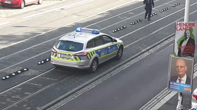 police have reported https://twitter.com/polizei_hal/status/1181889557345652737 two deaths following a shooting in the german town of halle. german... - halle gebäude stock-videos und b-roll-filmmaterial