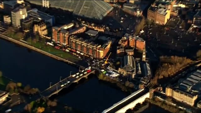 recovery operation gvs night shots air views aerials of recovery operation wider shots of glasgow and river clyde tall ship on river glasgow city... - helicopter landing pads stock videos and b-roll footage