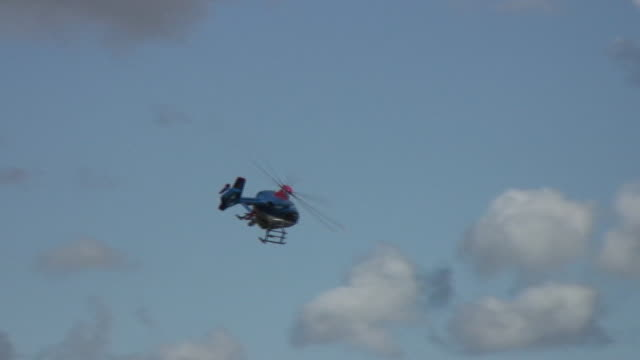 police helicopter in the air. - helicopter stock videos and b-roll footage