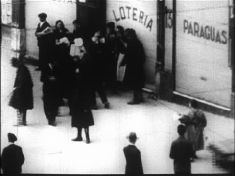 police hitting + threatening man with clubs in riot / spain - 1931 stock videos & royalty-free footage