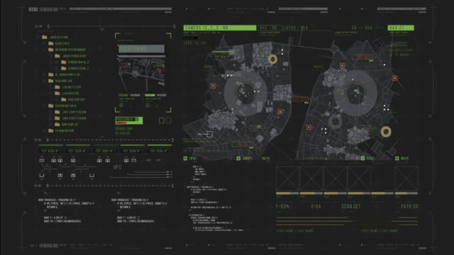 police hud tracking system and remote control. spy monitoring system and digital dashboard. - computer software stock videos & royalty-free footage