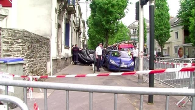 police hunting a father suspected of shooting dead his wife and four children and burying them in the garden turned their attention southwards friday... - nantes stock videos & royalty-free footage