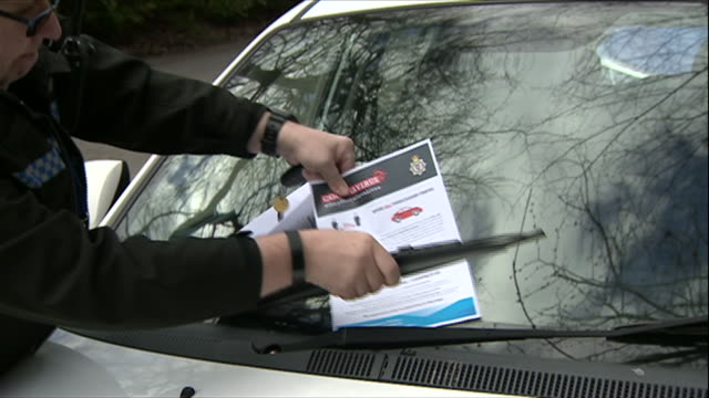 police in bristol advising people to stay at home during the coronavirus crisis - windscreen stock videos & royalty-free footage
