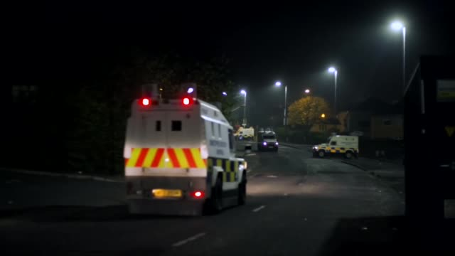 police in derry searching for evidence after the murder of journalist lyra mckee - northern ireland stock videos & royalty-free footage