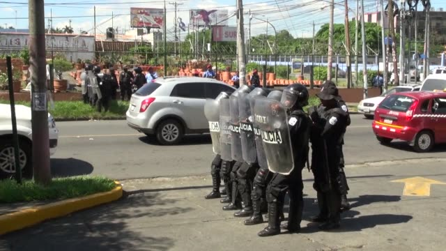 police in nicaragua's capital prohibit an opposition and human rights group from holding a mass march this weekend with activists saying that... - managua stock videos & royalty-free footage