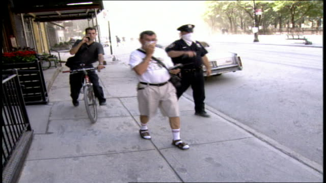police in the aftermath of the world trade center collapse - september 11 2001 attacks stock videos & royalty-free footage