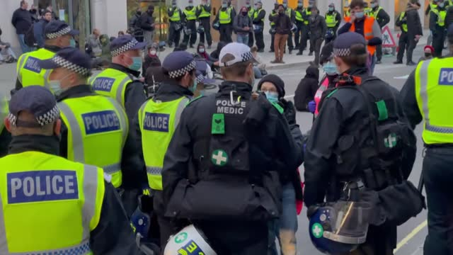 police intervened to protesters, who stand against the controversial bill that plans to increase police powers against protesters, in london on... - tranquility stock videos & royalty-free footage