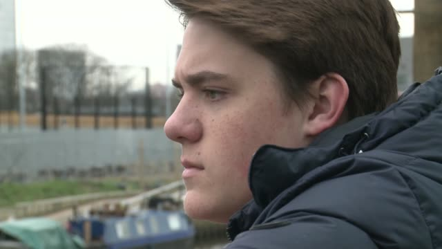police investigating two allegations of assault following disruption at west ham match england london stratford ext lewis george george looking... - ウェストハム・ユナイテッドfc点の映像素材/bロール