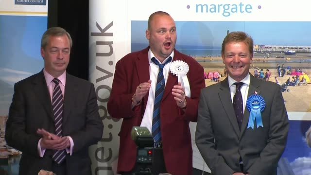police investigations over conservative party expenses controversy; lib / 8.5.2015 kent: int returning officer reading out results of vote in south... - al murray stock videos & royalty-free footage